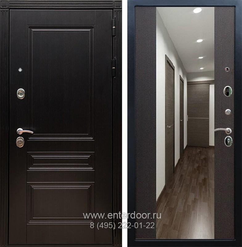Входная металлическая дверь Армада 17 Мегаполис с Зеркалом СБ-16 (Венге / Венге)