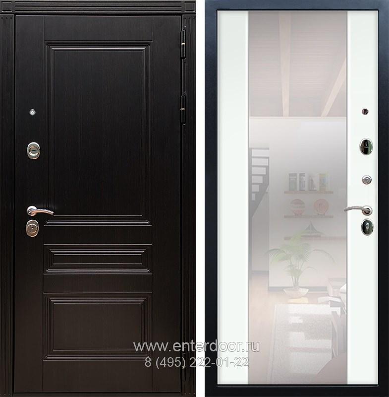 Входная металлическая дверь Армада 17 Мегаполис с Зеркалом СБ-16 (Венге / Ясень белый)