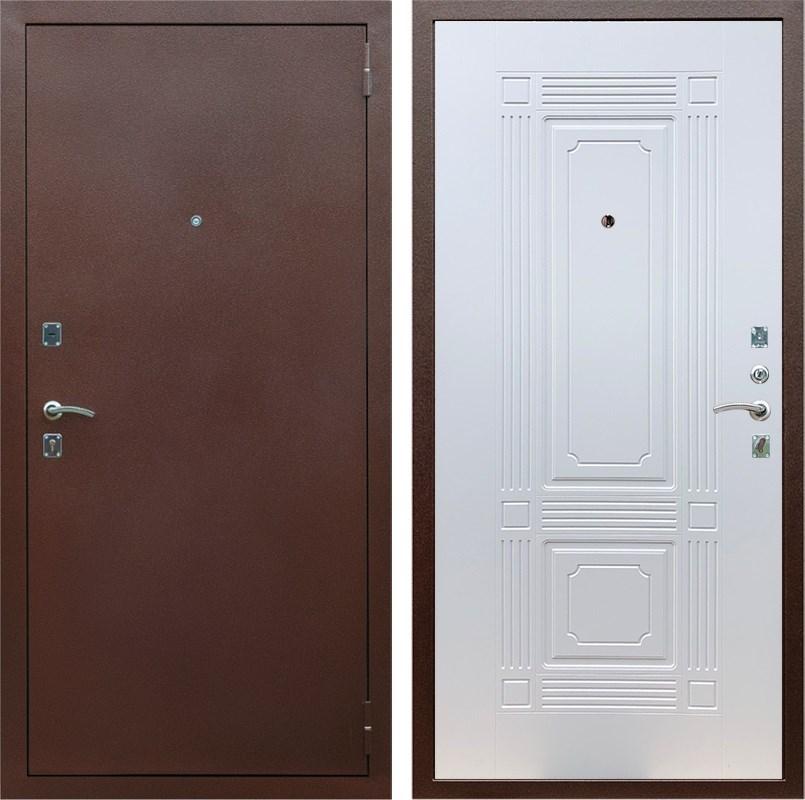 Входная металлическая дверь Армада 1 ФЛ-2 (Антик медь / Белый ясень)