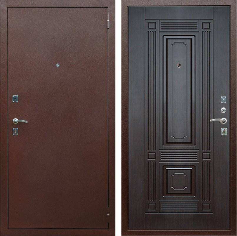 Входная металлическая дверь Армада 1 ФЛ-2 (Антик медь / Венге)