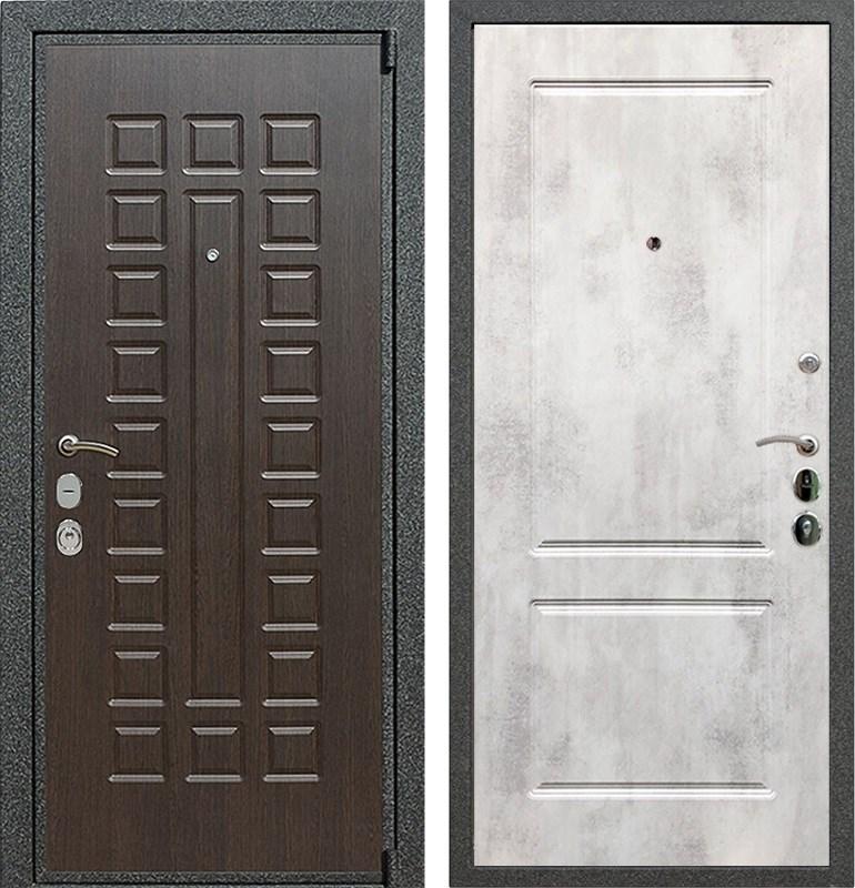 Входная металлическая дверь Армада 4А Mottura ФЛ-117 (Венге / Бетон светлый)