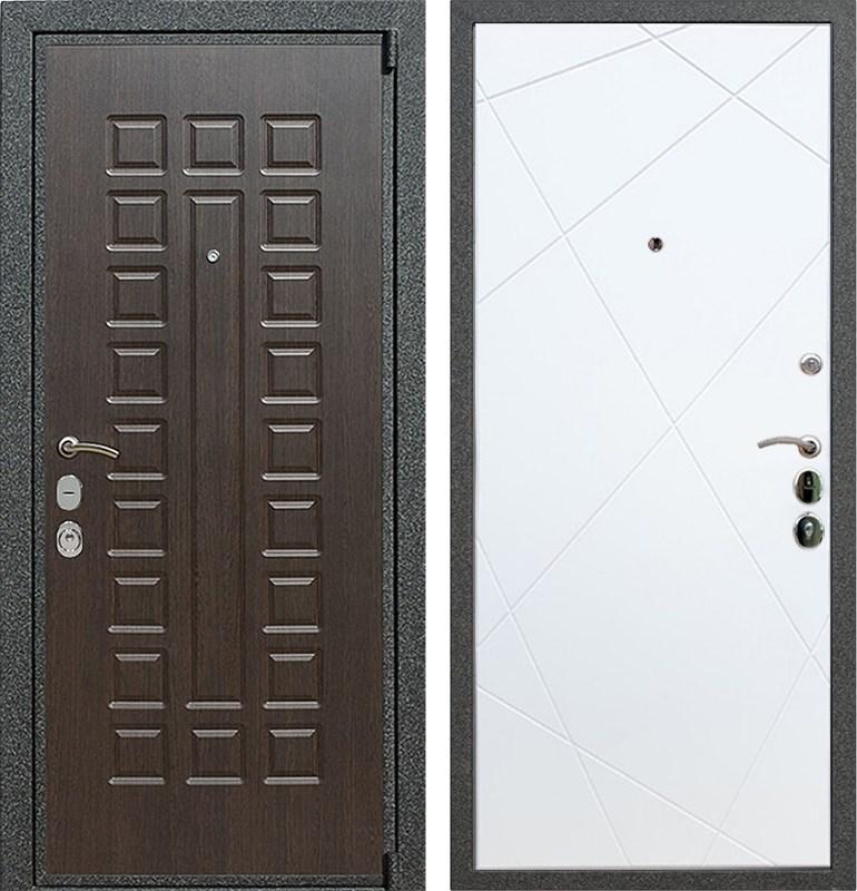 Входная металлическая дверь Армада 4А Mottura ФЛ-291 (Венге / Белый софт)