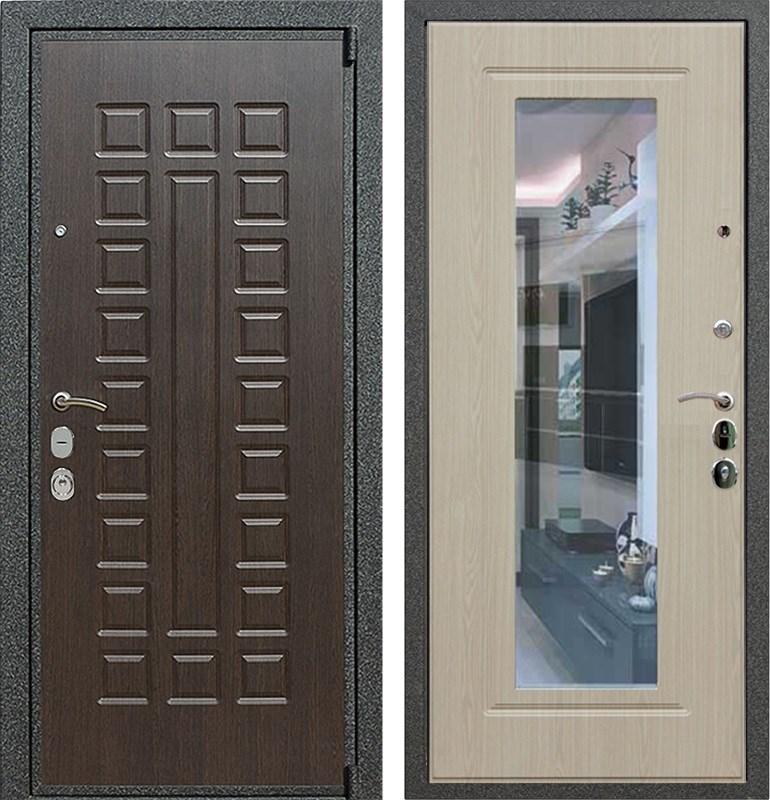 Входная металлическая дверь Армада 4А Mottura с Зеркалом (Венге / Беленый дуб)