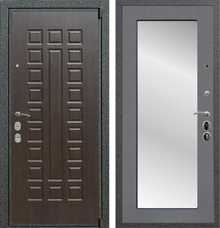 Входная металлическая дверь Армада 4А Mottura с Зеркалом Пастораль (Венге / Графит софт)