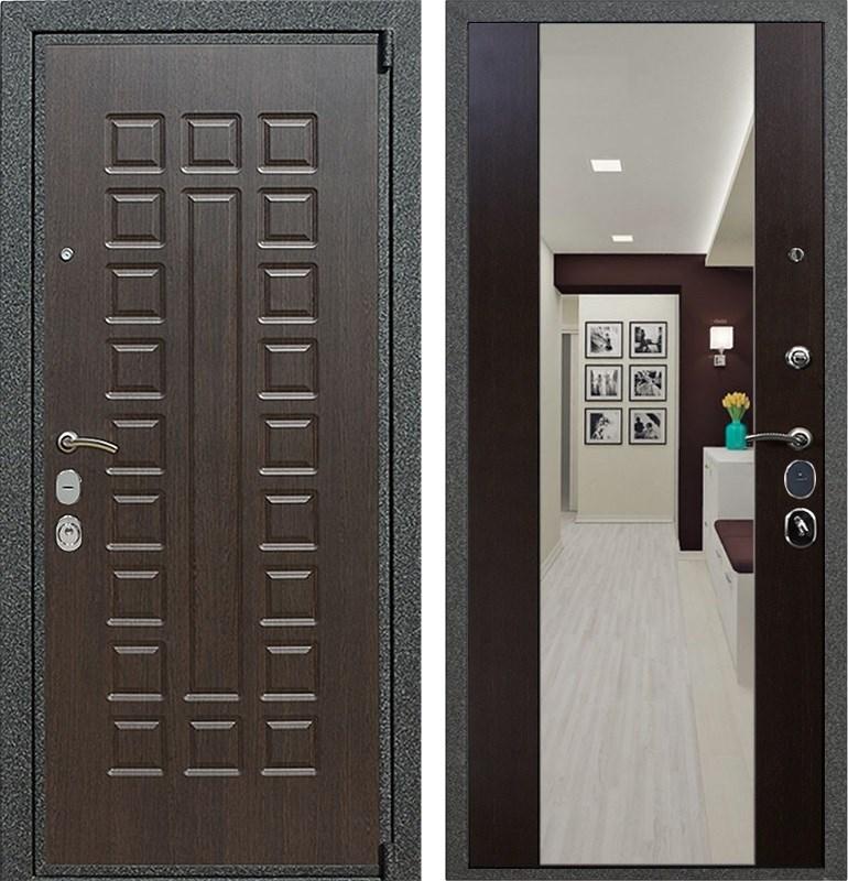 Входная металлическая дверь Армада 4А Mottura с Зеркалом СБ-16 (Венге / Венге)