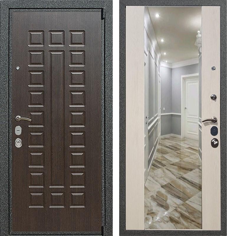 Входная металлическая дверь Армада 4А Mottura с Зеркалом СБ-16 (Венге / Лиственница беж)