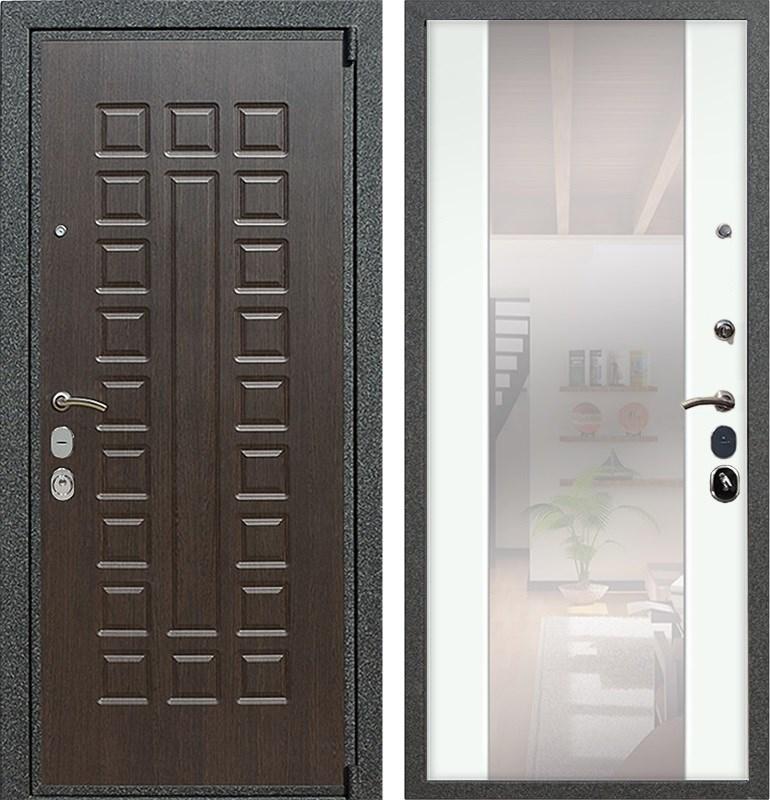 Входная металлическая дверь Армада 4А Mottura с Зеркалом СБ-16 (Венге / Ясень белый)