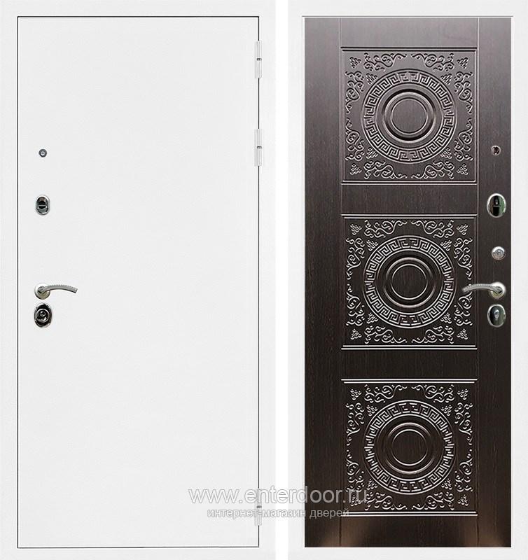 Входная металлическая дверь Армада 5А Д-18 (Белая шагрень / Венге)
