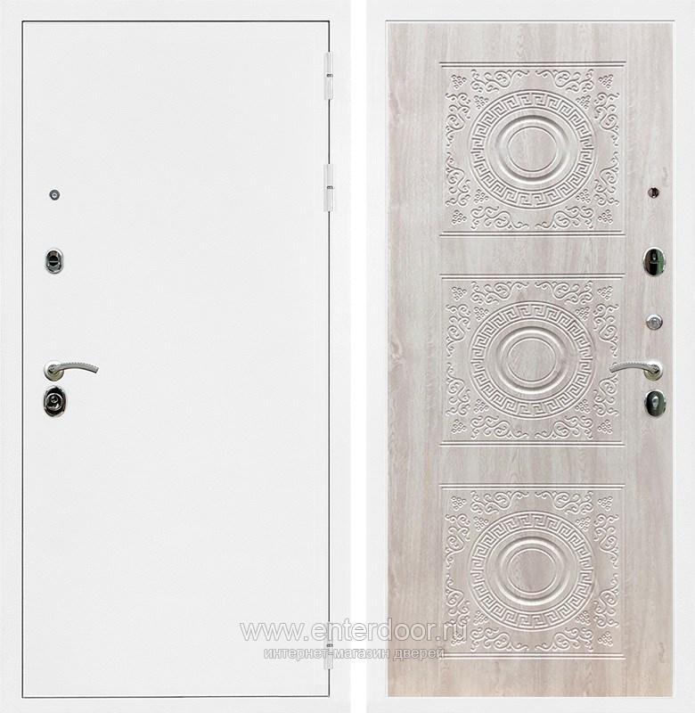 Входная металлическая дверь Армада 5А Д-18 (Белая шагрень / Сосна белая)