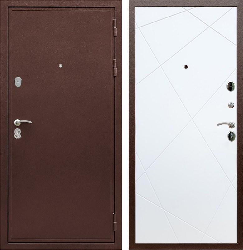 Входная металлическая дверь Армада 5А Лучи (Медный антик / Белый софт)