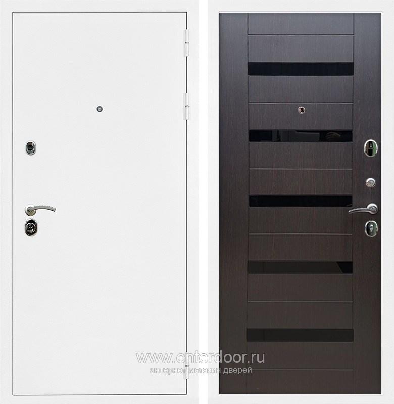 Входная металлическая дверь Армада 5А СБ-14 (Белая шагрень / Венге)