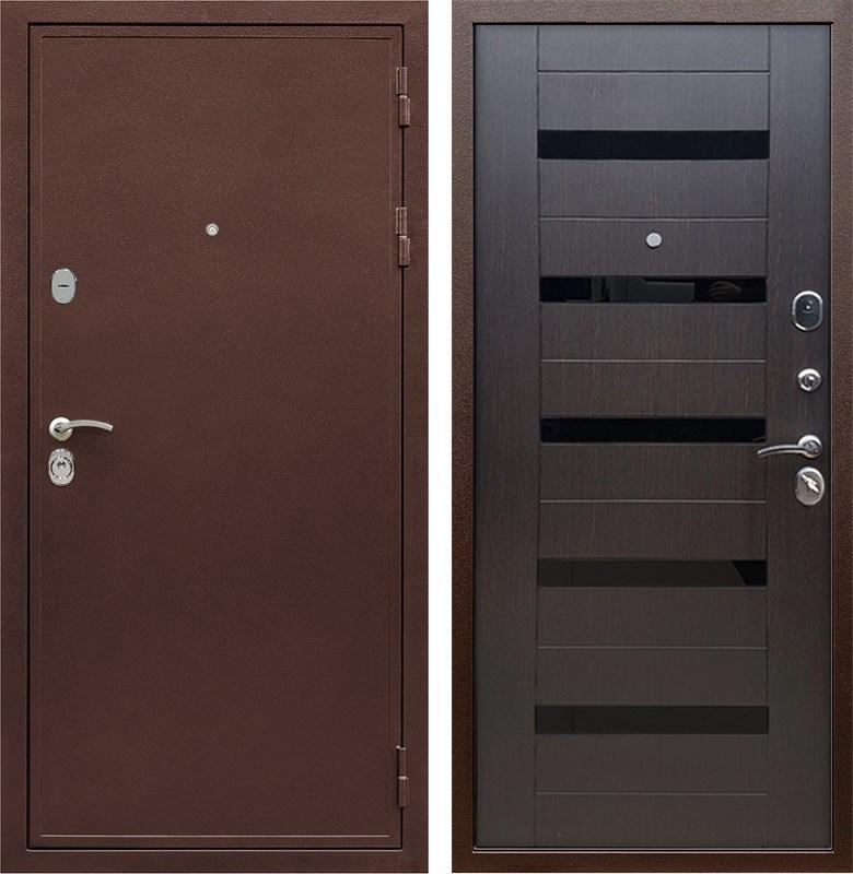 Входная металлическая дверь Армада 5А СБ-14 (Медный антик / Венге)