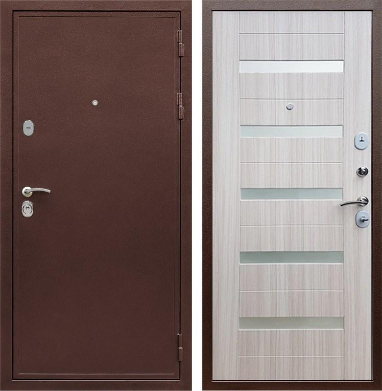 Входная металлическая дверь Армада 5А СБ-14 (Медный антик / Сандал белый)