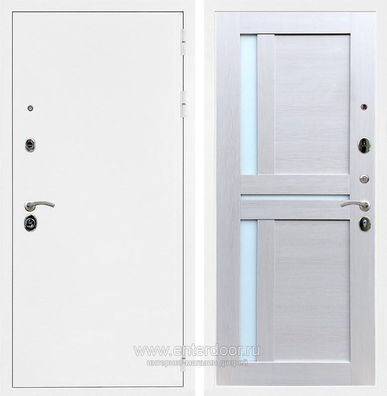 Входная металлическая дверь Армада 5А СБ-18 (Белая шагрень / Лиственница беж)