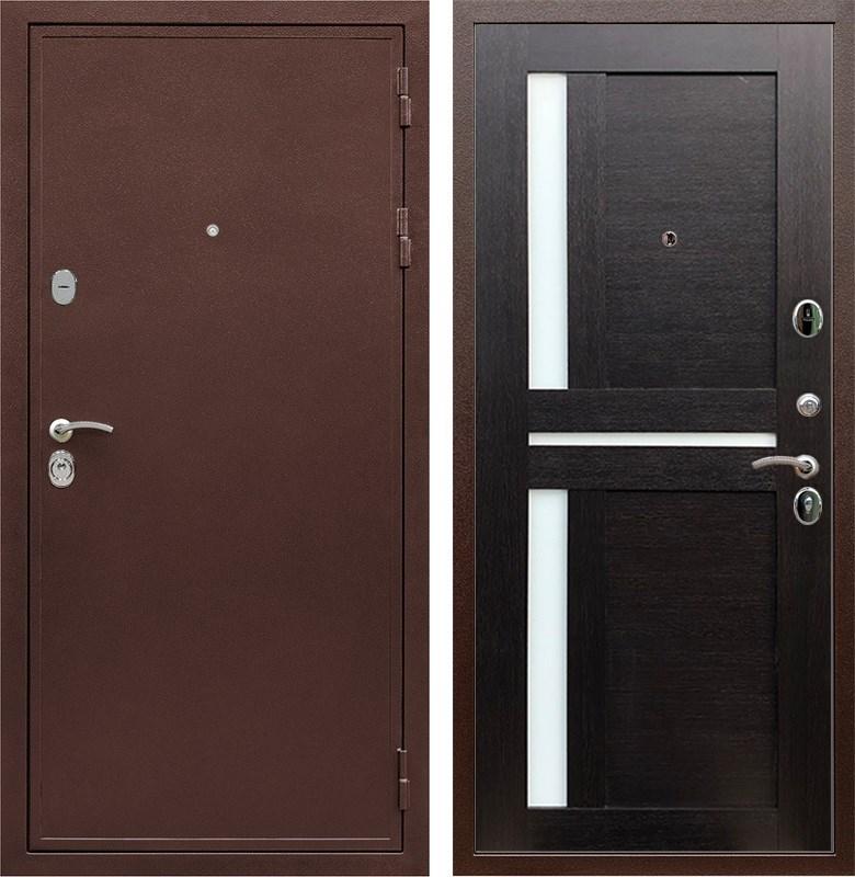 Входная металлическая дверь Армада 5А СБ-18 (Медный антик / Венге)
