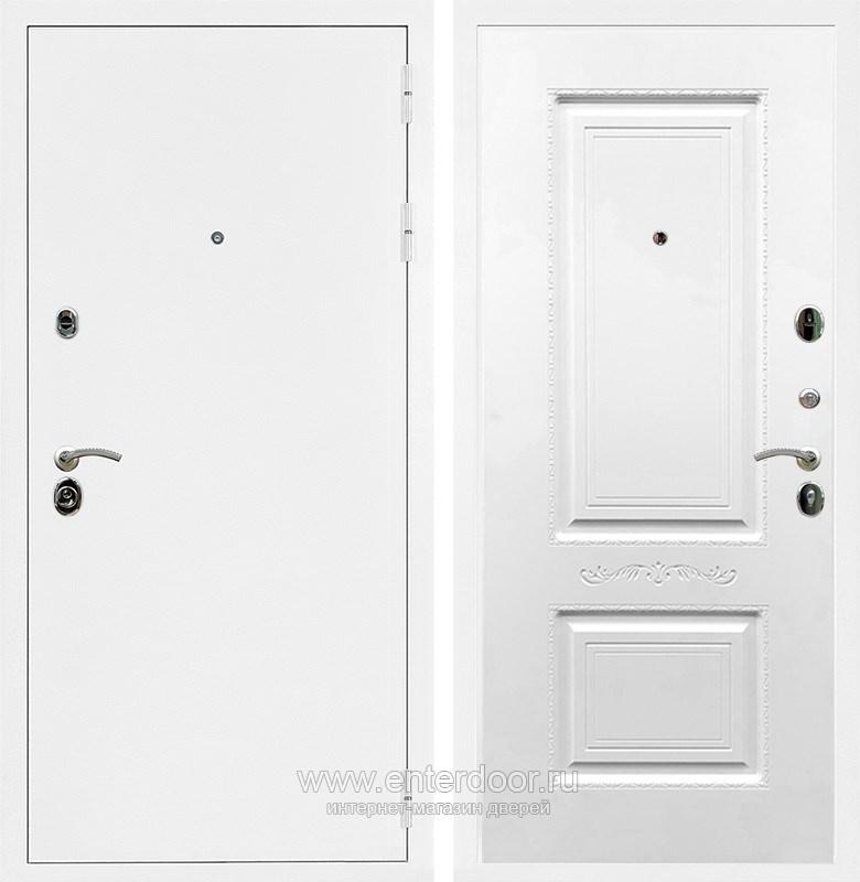 Входная металлическая дверь Армада 5А Смальта 04 (Белая шагрень / Белый силк сноу)