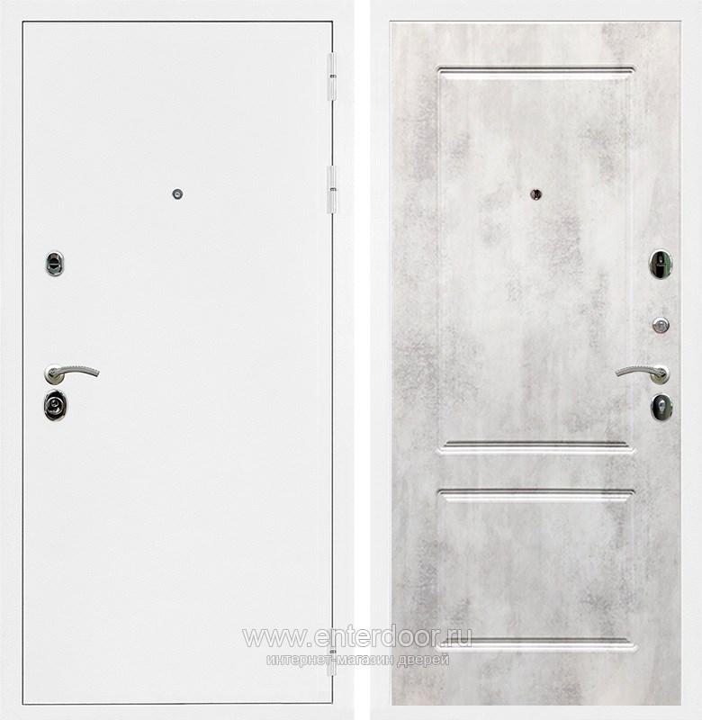 Входная металлическая дверь Армада 5А ФЛ-117 (Белая шагрень / Бетон светлый)