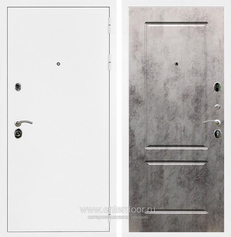 Входная металлическая дверь Армада 5А ФЛ-117 (Белая шагрень / Бетон тёмный)