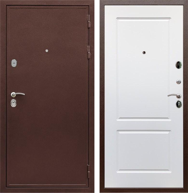Входная металлическая дверь Армада 5А ФЛ-117 (Медный антик / Белый софт)