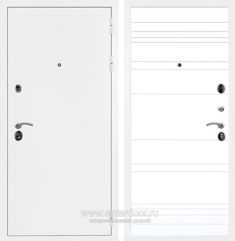 Входная металлическая дверь Армада 5А ФЛ-14 (Белая шагрень / Белый софт)