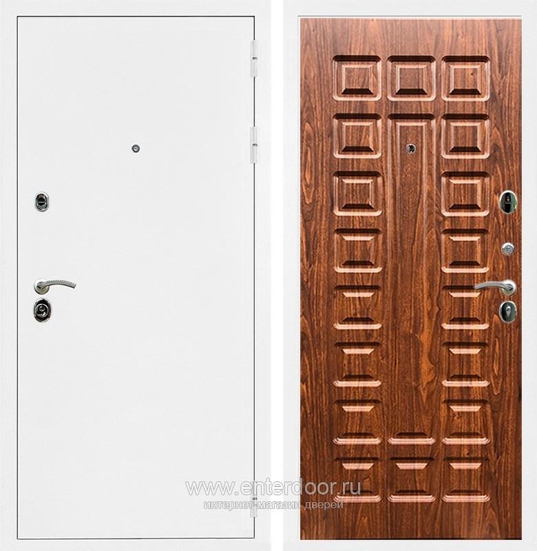 Входная металлическая дверь Армада 5А ФЛ-183 (Белая шагрень / Берёза морёная)