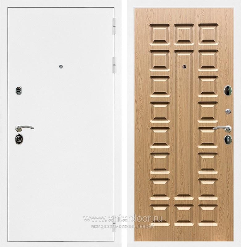 Входная металлическая дверь Армада 5А ФЛ-183 (Белая шагрень / Дуб светлый)