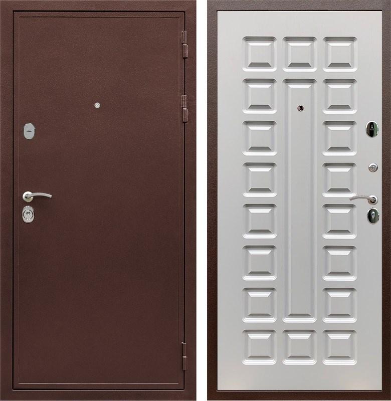 Входная металлическая дверь Армада 5А ФЛ-183 (Медный антик / Белый ясень)