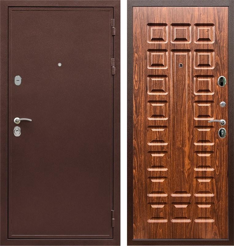 Входная металлическая дверь Армада 5А ФЛ-183 (Медный антик / Берёза морёная)