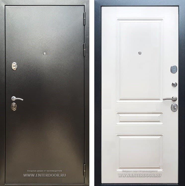 Входная металлическая дверь Армада 5А ФЛ-243 (Антик серебро / Ясень белый)