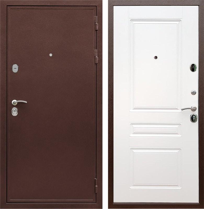 Входная металлическая дверь Армада 5А ФЛ-243 (Медный антик / Белый)