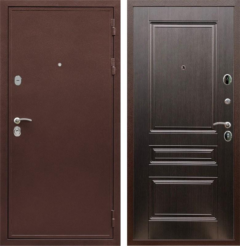 Входная металлическая дверь Армада 5А ФЛ-243 (Медный антик / Венге)