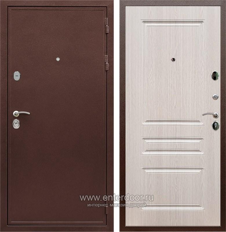 Входная металлическая дверь Армада 5А ФЛ-243 (Медный антик / Дуб беленый)