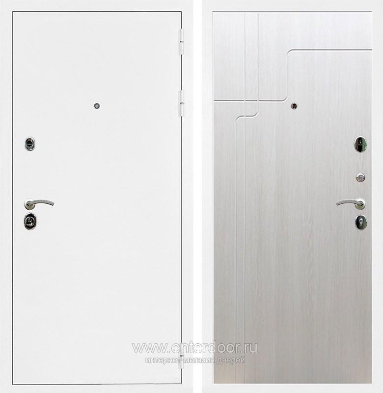 Входная металлическая дверь Армада 5А ФЛ-246 (Белая шагрень / Лиственница беж)