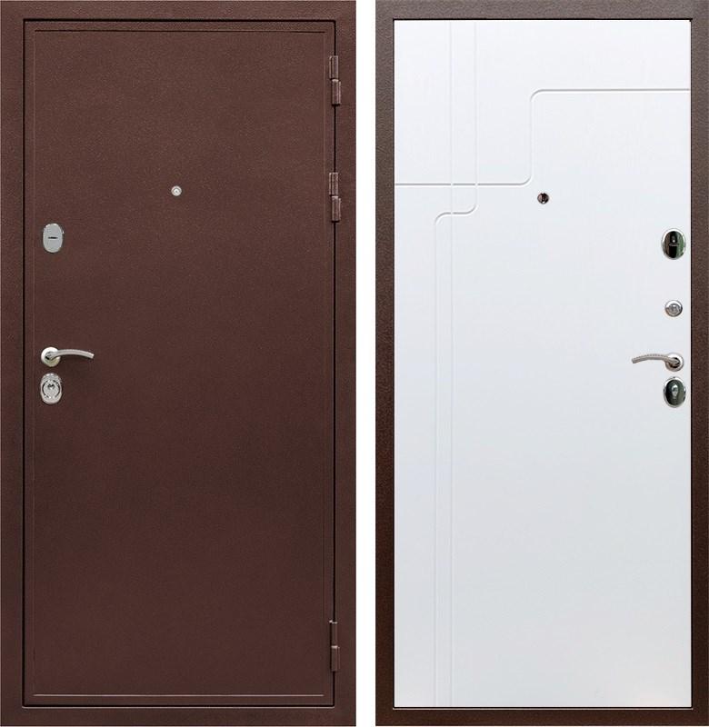 Входная металлическая дверь Армада 5А ФЛ-246 (Медный антик / Белый ясень)