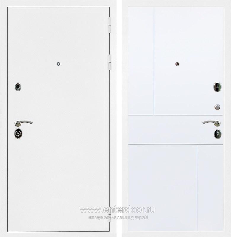 Входная металлическая дверь Армада 5А ФЛ-290 (Белая шагрень / Белый софт)