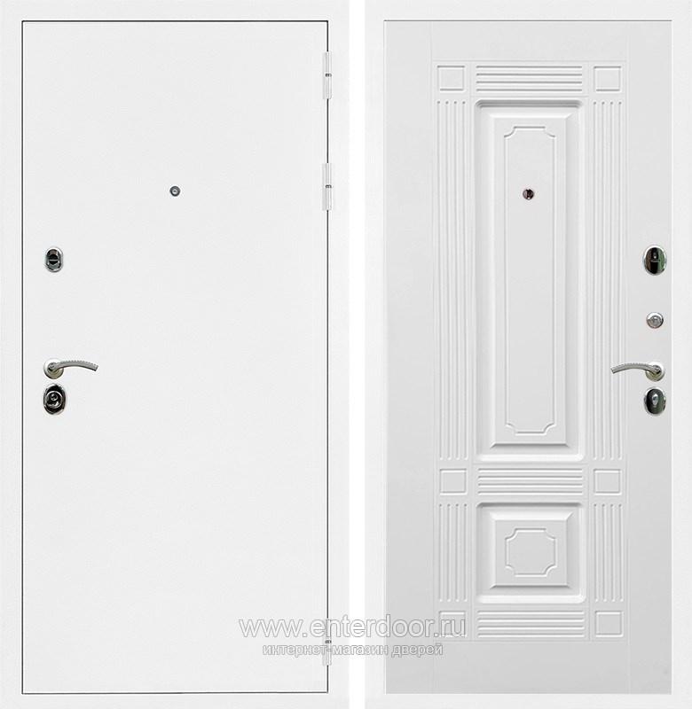 Входная металлическая дверь Армада 5А ФЛ-2 (Белая шагрень / Белый силк сноу)