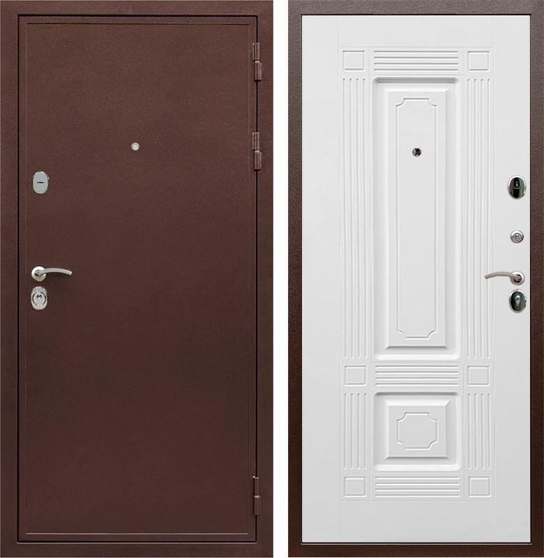 Входная металлическая дверь Армада 5А ФЛ-2 (Медный антик / Белый силк сноу)