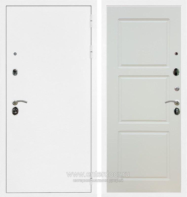 Входная металлическая дверь Армада 5А ФЛ-3 (Белая шагрень / Софт шампань)