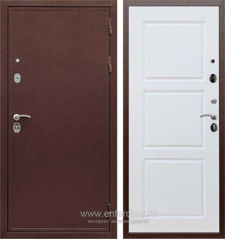 Входная металлическая дверь Армада 5А ФЛ-3 (Медный антик / Белый матовый)
