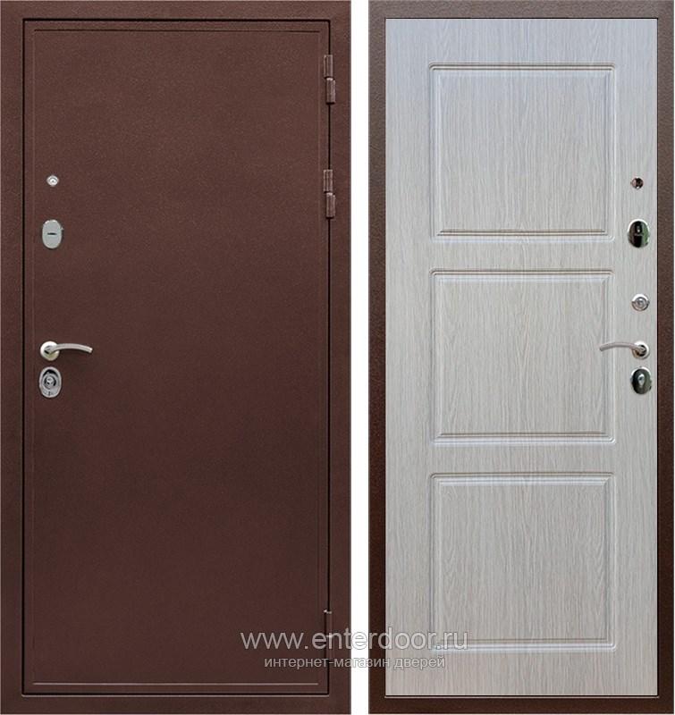 Входная металлическая дверь Армада 5А ФЛ-3 (Медный антик / Дуб беленый)