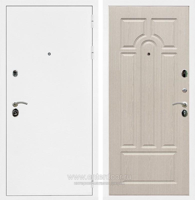 Входная металлическая дверь Армада 5А ФЛ-58 (Белая шагрень / Дуб белёный)