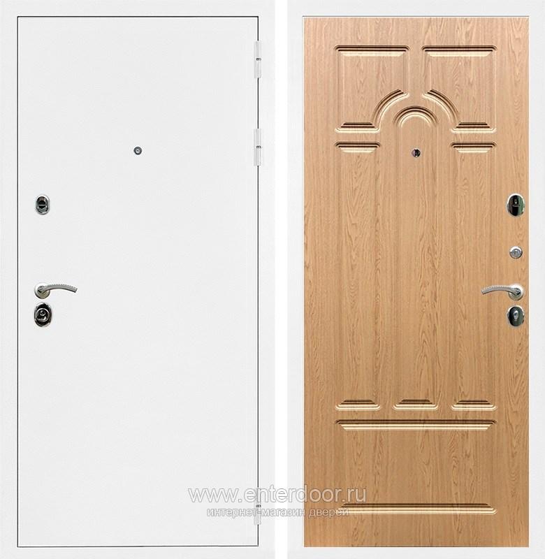 Входная металлическая дверь Армада 5А ФЛ-58 (Белая шагрень / Дуб светлый)