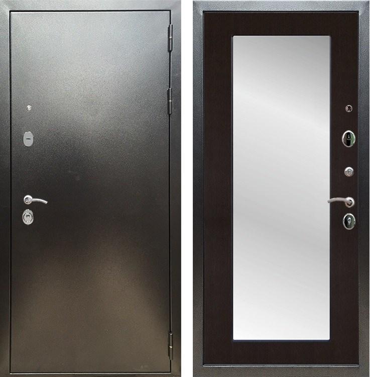 Входная металлическая дверь Армада 5А с Зеркалом Пастораль (Антик серебро / Венге)