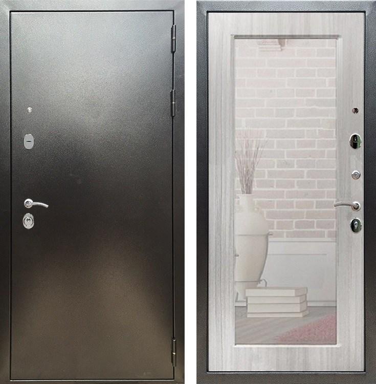 Входная металлическая дверь Армада 5А с Зеркалом Пастораль (Антик серебро / Сандал белый)