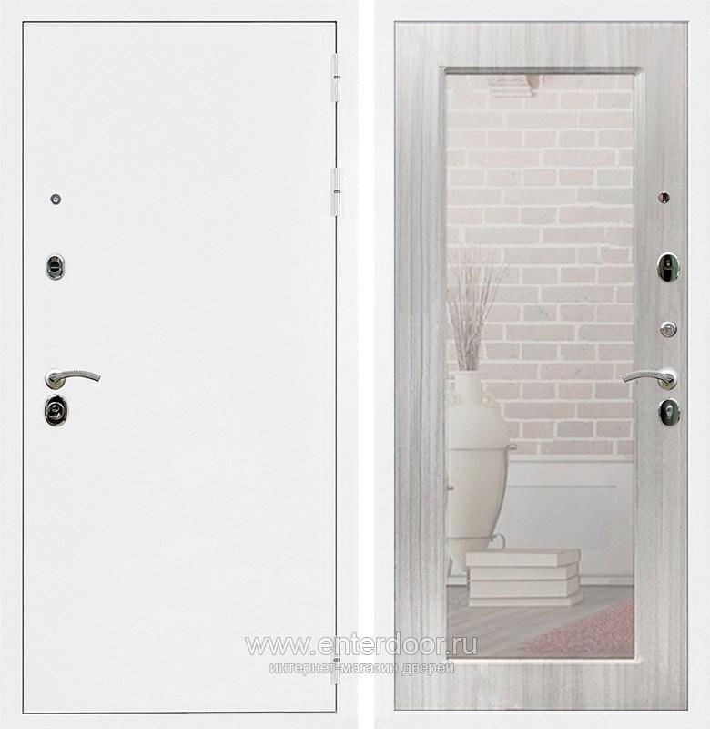 Входная металлическая дверь Армада 5А с зеркалом Пастораль (Белая шагрень / Сандал белый)