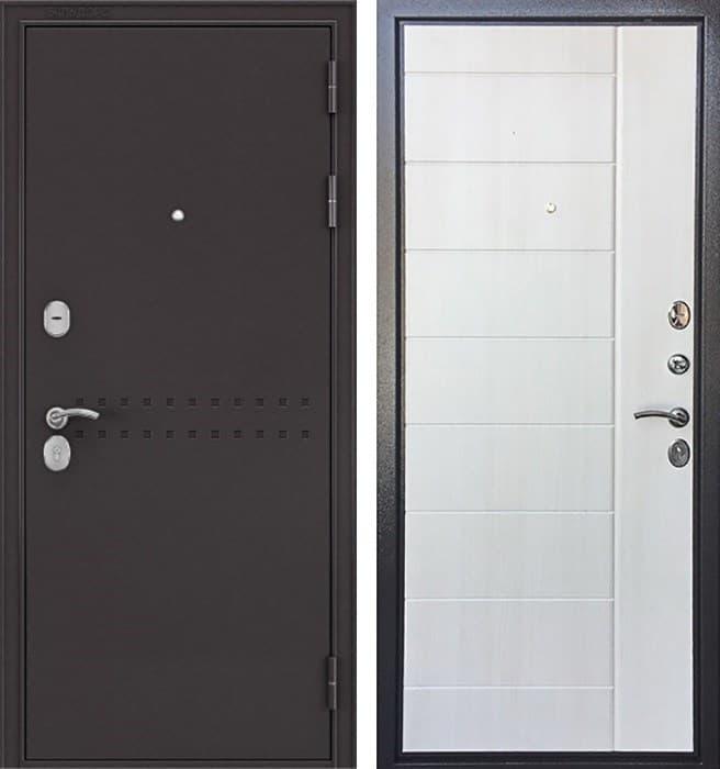 Входная металлическая дверь Бульдорс Комбат (Букле шоколад / Ларче бьянко)