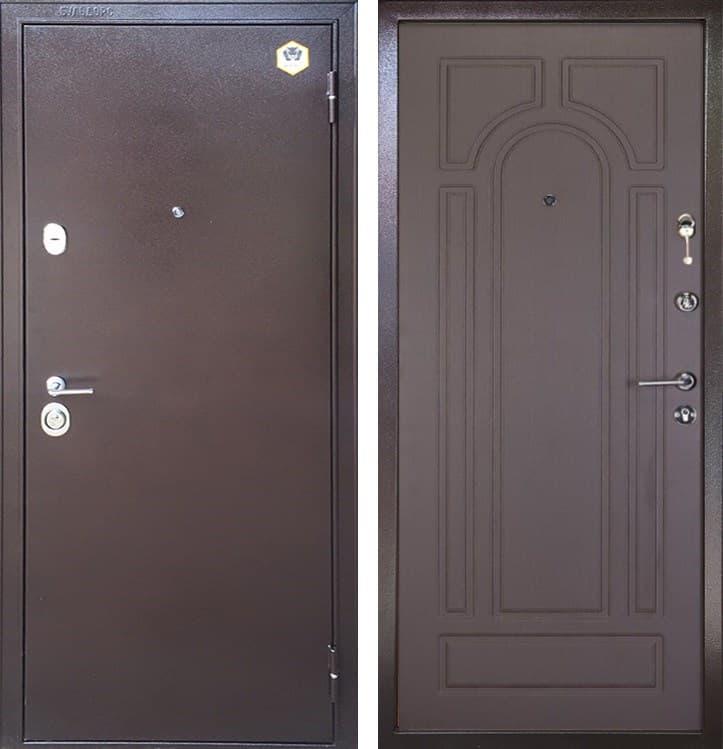Входная металлическая дверь Бульдорс 14 Б-6 (Медный антик / Венге)