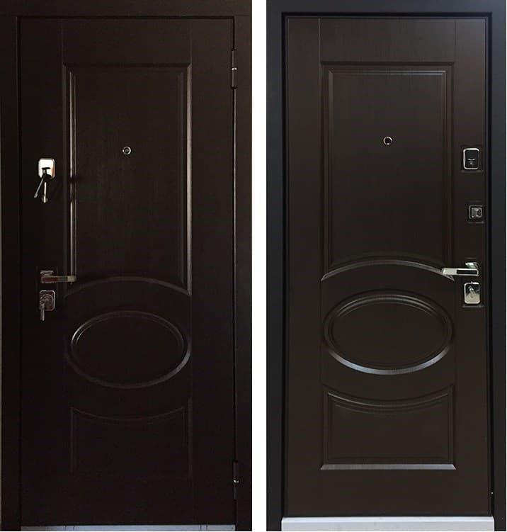 Входная металлическая дверь Бульдорс 45 (Лиственница Шоколад / Лиственница Шоколад)