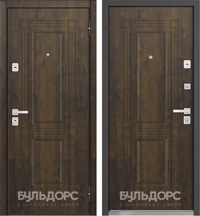 Входная металлическая дверь Бульдорс 45 (Орех грецкий / Орех грецкий)