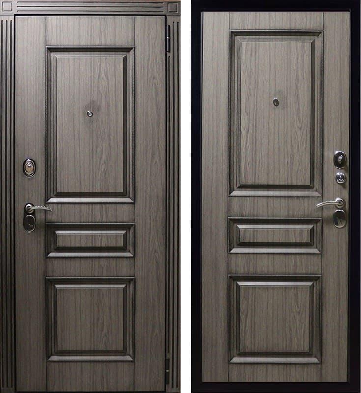 Входная металлическая дверь Вагнер Винорит (Серый с патиной / Серый с патиной)